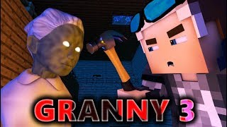 Download GRANNY IN MINECRAFT 3! Horror Game ANIMATION - Day 3 Video