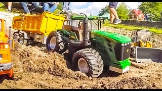 Download RC trucks, tractors and excavators in ACTION! Nice R/C machines! Video