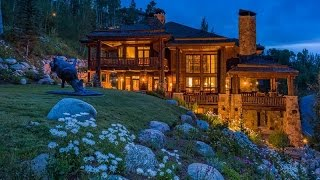 Download Custom Log and Stone Residence in Beaver Creek, Colorado Video