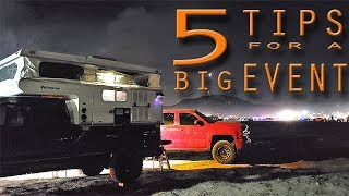 Download 5 TIPS for CAMPING at a LARGE EVENT with a TRUCK CAMPER - KOH 2019 Video