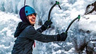 Download CLIMBING FROZEN WATERFALLS! w/ Sam, Colby, & Corey Video