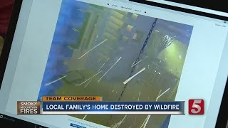 Download Local Family Watches Gatlinburg Cabin Burn Via Security Cameras Video