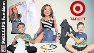 Download MASSIVE TARGET BACK TO SCHOOL CLOTHING HAUL   KIDS SCHOOL SHOPPING   PHILLIPS FamBam Back to School Video
