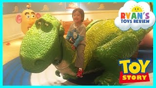 Download GIANT DISNEY TOY STORY Kids Playroom Mr Potato Head Family Fun Children PlayCenter Ryan ToysReview Video