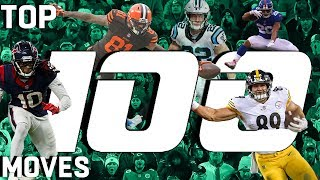 Download Top 100 Moves (Jukes, Stiff Arms, & Hurdles) of the 2018 Season! | NFL Highlights Video