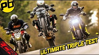 Download Triple Trouble Road Test | Street Triple RS - MT09 SP - Brutale 800 RR Video