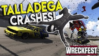 Download NASCAR TALLADEGA CRASH EJECTS DRIVER! - Next Car Game: Wreckfest Gameplay - Nascar Big One Video