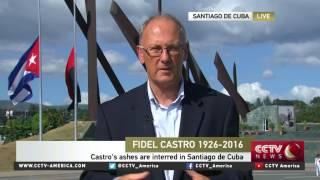Download Fidel Castro's ashes interred in private ceremony in Cuba Video
