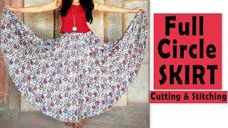 Download Full Circle Skirt Cutting & Stitching | Full Flared Skirt Tutorial Video
