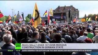 Download 'No mosques in Germany!' Mass rally against Muslim houses of worship in Thuringia Video