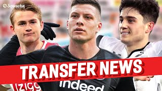 Download Luka Jović, Daniel James, Matthijs de Ligt TRANSFER NEWS w/Squawka Video
