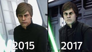 Download Luke Skywalker Battlefront 1 (2015) vs Battlefront II (2017) Graphics Comparison Video