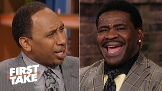 Download Michael Irvin accuses Stephen A. of being 'blasphemous' for Cowboys snub   First Take Video