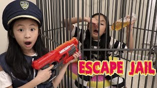 Download Pretend Play Police LOCKED UP Kaycee in NEW JAIL Playhouse ESCAPE Video