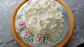 Download УКРАШЕНИЕ ТОРТОВ- Небольшой Свадебный тортик, Cake decoration Video