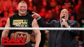 "Download Brock Lesnar sets his sights on the ""pretender"" WWE Champion Jinder Mahal: Raw, Oct. 23, 2017 Video"