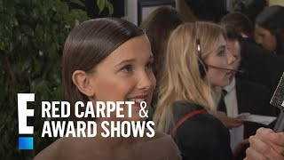 Download Millie Bobby Brown Inspired by Adele at 2017 Golden Globes | E! Live from the Red Carpet Video