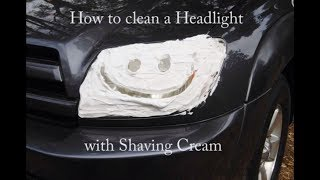 Download How To Clean Headlights with Shaving Cream Video