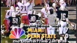 Download #2 Penn St vs #1 Miami - 1987 Fiesta Bowl 1/2/87 Video
