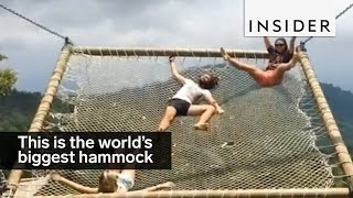 Download The world's biggest hammock has a jaw-dropping view Video