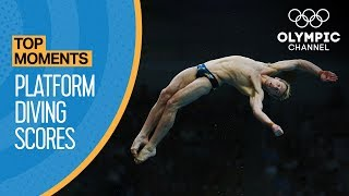 Download Top 3 Olympic 10M Platform Diving Scores Ever Video
