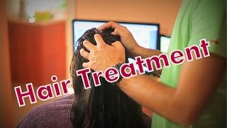 Download ASMR Hair Nutrition | Scalp Massage | Hair Brushing | Stroking | Marocan Oil Video