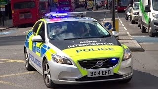 Download London Police Volvo V40s Responding Video