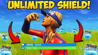 Download NEW *UNLIMITED SHIELDS* TRICK! - Fortnite Funny Fails and WTF Moments! #274 Video