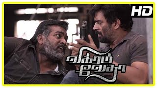 Download Vikram Vedha Movie Climax | Madhavan and Vijay Sethupathi learn the truth | End Credits Video