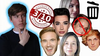 Download Rating the looks of Youtubers 1-10 (realistic ratings) Video