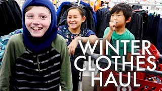 Download TARGET WINTER CLOTHES HAUL : Adventuring Family of 11 Video