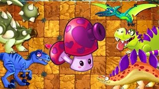 Download Pefume shroom Charm Attack on Dinosaurs - Plants vs Zombies 2 Jurassic Marsh Video
