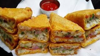 Download Bread Pakora recipe || How to make Potato Bread Pakora || Aloo Bread Pakora Video