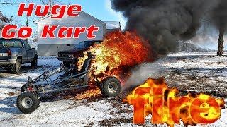 Download 670cc Off Road Go Kart Burns To The Ground ~ HUGE FIRE!!! Video