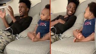 Download Diese Unterhaltung zwischen einem Vater und seinem Baby ist einfach nur bezaubernd! Video