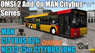 Download OMSI 2 - Add-On MAN Citybus Series - MAN Citybus A26 NL313 15m LONG Video