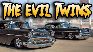 Download 6,000hp of Twin Turbo '57 Chevys - THE EVIL TWINS Video