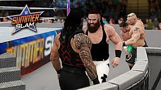 Download WWE 2K17 SummerSlam 2017 - Brock Lesnar vs Braun Strowman vs Roman Reigns vs Samoa Joe (Custom) Video