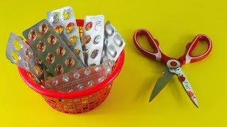 Download ঔষুধের খালি প্যাকেট দিয়ে অসাম আইডিয়া | Amazing Craft Ideas With Empty Medicine Packets Video
