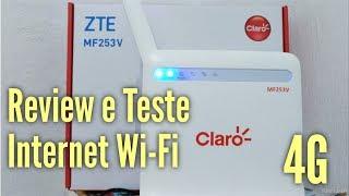 Download Claro Internet Wi-Fi 4GMax   ZTE MF253V   Review, Teste e Primeiras Impressões Video