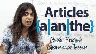 Download How to use articles 'a', 'an', and 'the' in English? - Basic English Grammar lesson Video