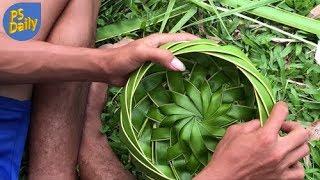 Download Primitive Technology: Coconut Leaf Bowl Video
