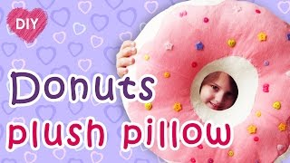 Download Donut plush pillow DIY. An easy way to make a donut. Video