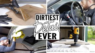 Download Complete Disaster Full Interior Car Detailing || Deep Cleaning Car Interior Ever! Video
