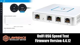Download UniFi Security Gateway / USG Speed Test with Firmware Version 4.4.12 Video