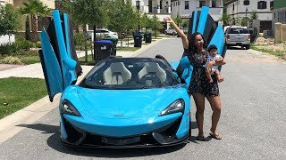 Download SURPRISING GIRLFRIEND WITH DREAM CAR THE MCLAREN!!! (VERY EMOTIONAL) Video