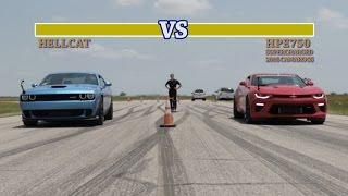 Download 707 HP Hellcat vs 751 HP Camaro SS Street Fight Video