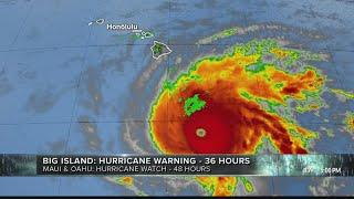 Download Hawaii island under hurricane warning; Oahu, Maui County under hurricane watch as Lane nears Video