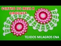 Download Centro de Mesa o Camino de Mesa Tejido a crochet paso a paso con Flor de 32 Pétalos muy fácil Video