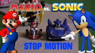 Download Mario vs. Sonic Kart Racing Stop Motion Video